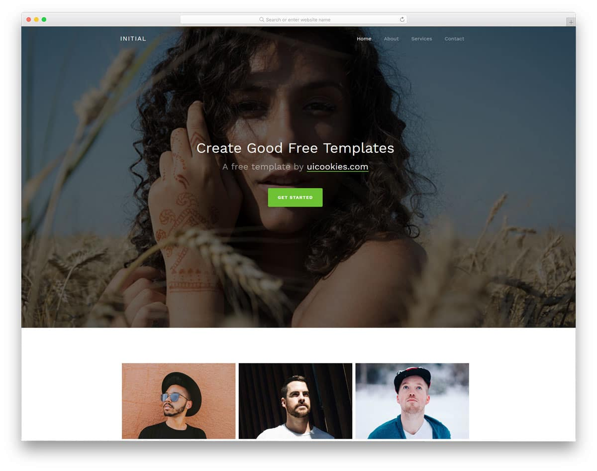 initial-free-personal-website-templates