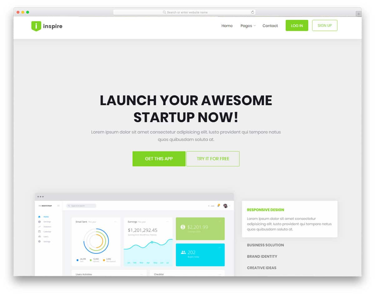 20 free bootstrap business templates to create a signature website inspire free bootstrap business templates wajeb Gallery