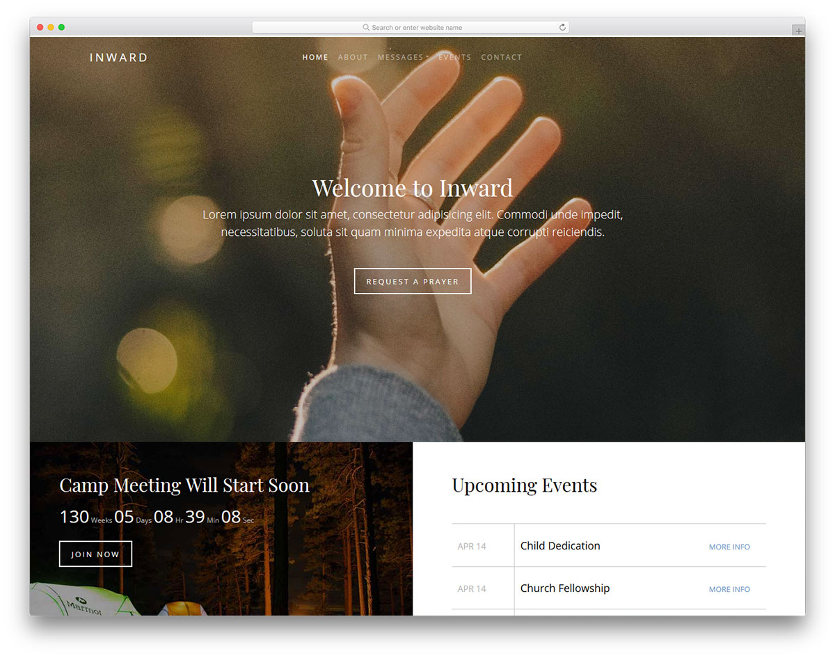 inward-free-church-website-templates
