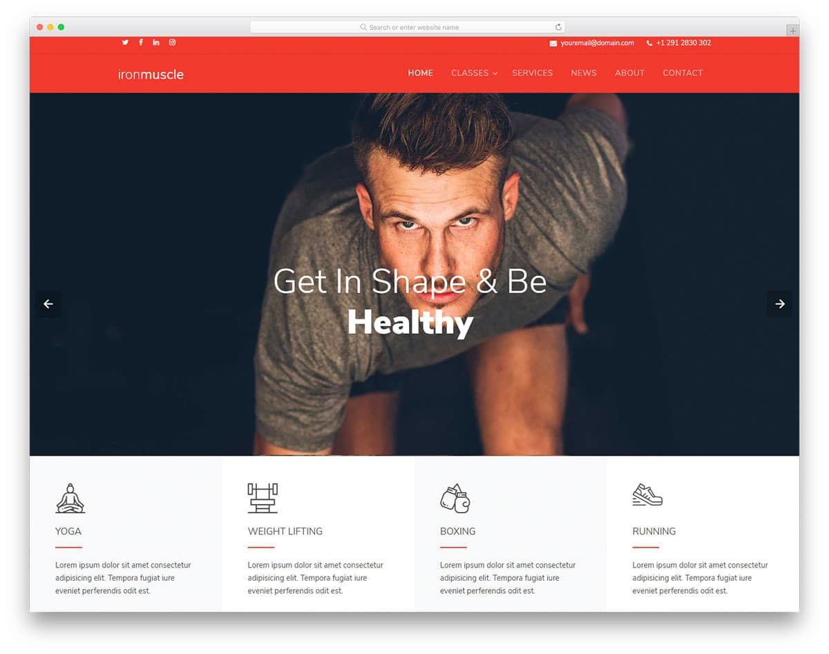 ironmuscle-free-responsive-website-templates