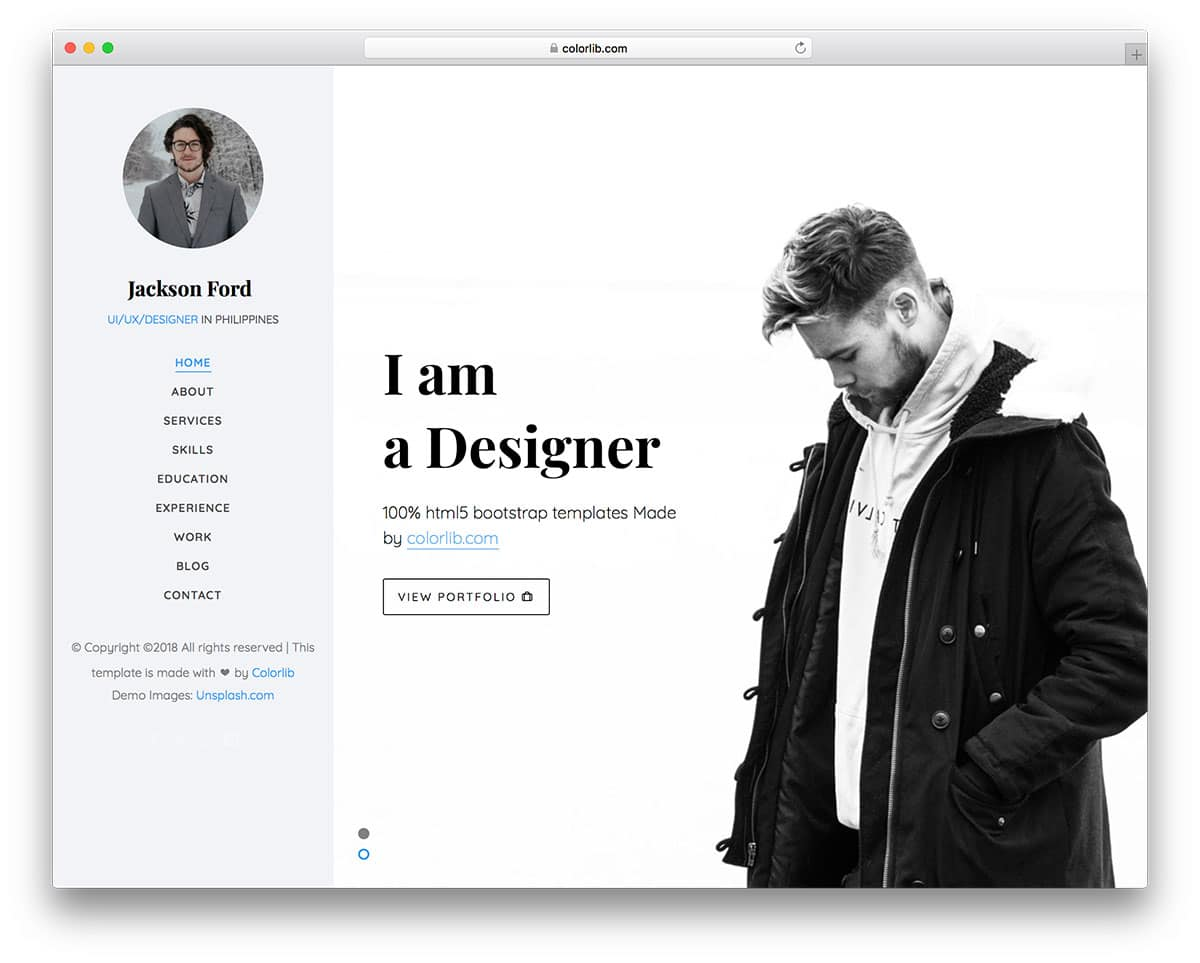 jackson-free-personal-website-templates