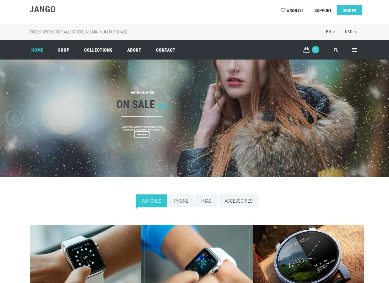 jango-ecommerce-website-template