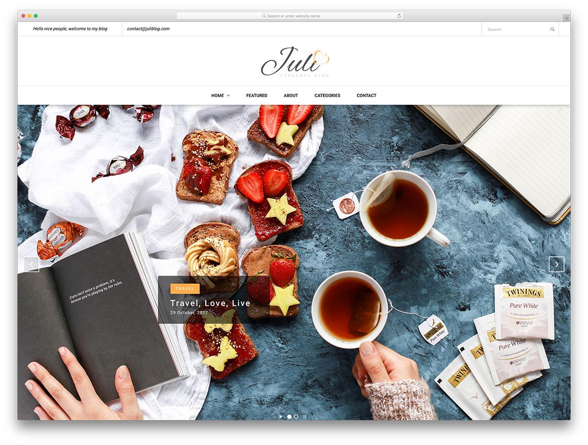 juli-free-bootstrap-blog-templates