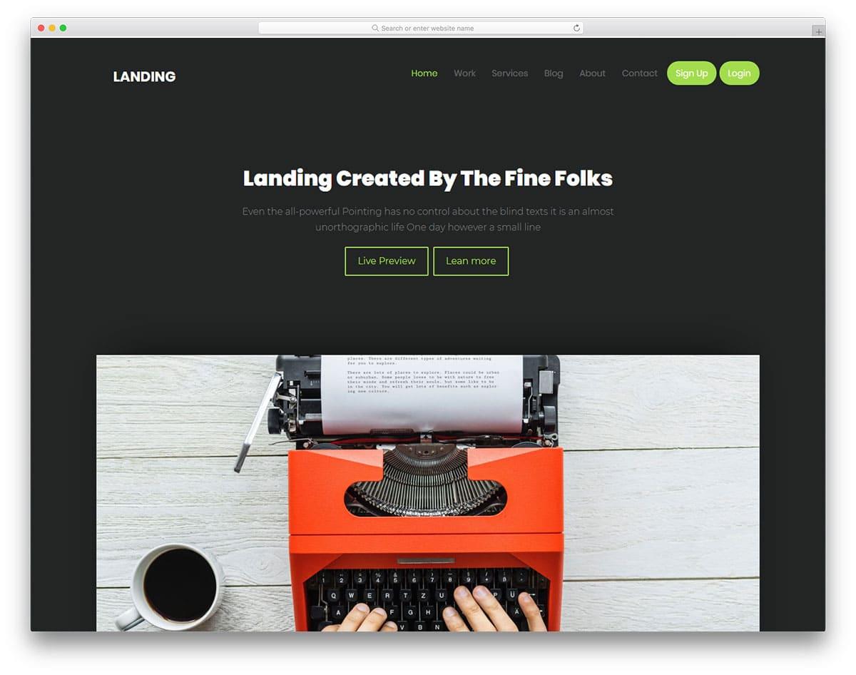 25 best free bootstrap landing page templates with modern design landing free bootstrap landing page templates maxwellsz
