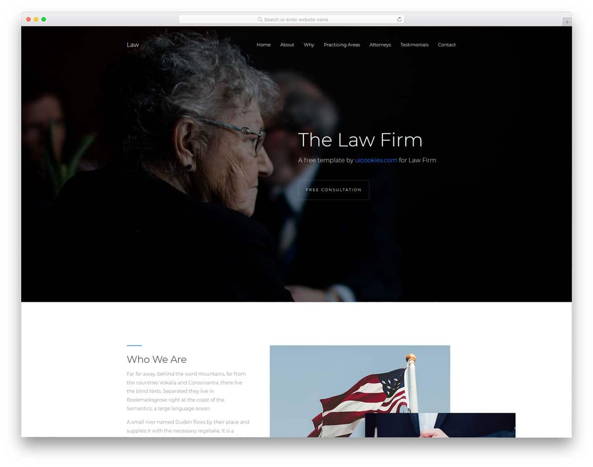 law-free-church-website-templates