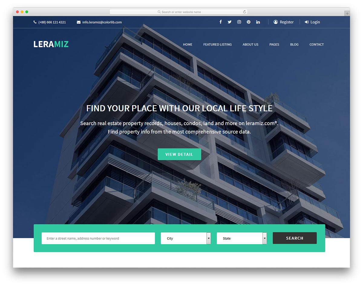 leramiz-free-real-estate-website-templates