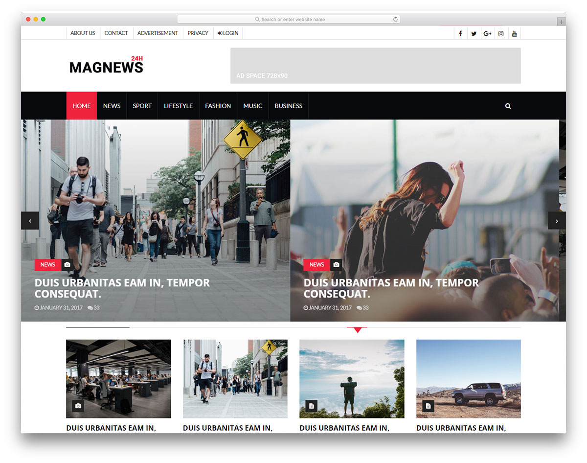 magnews-free-bootstrap-blog-templates
