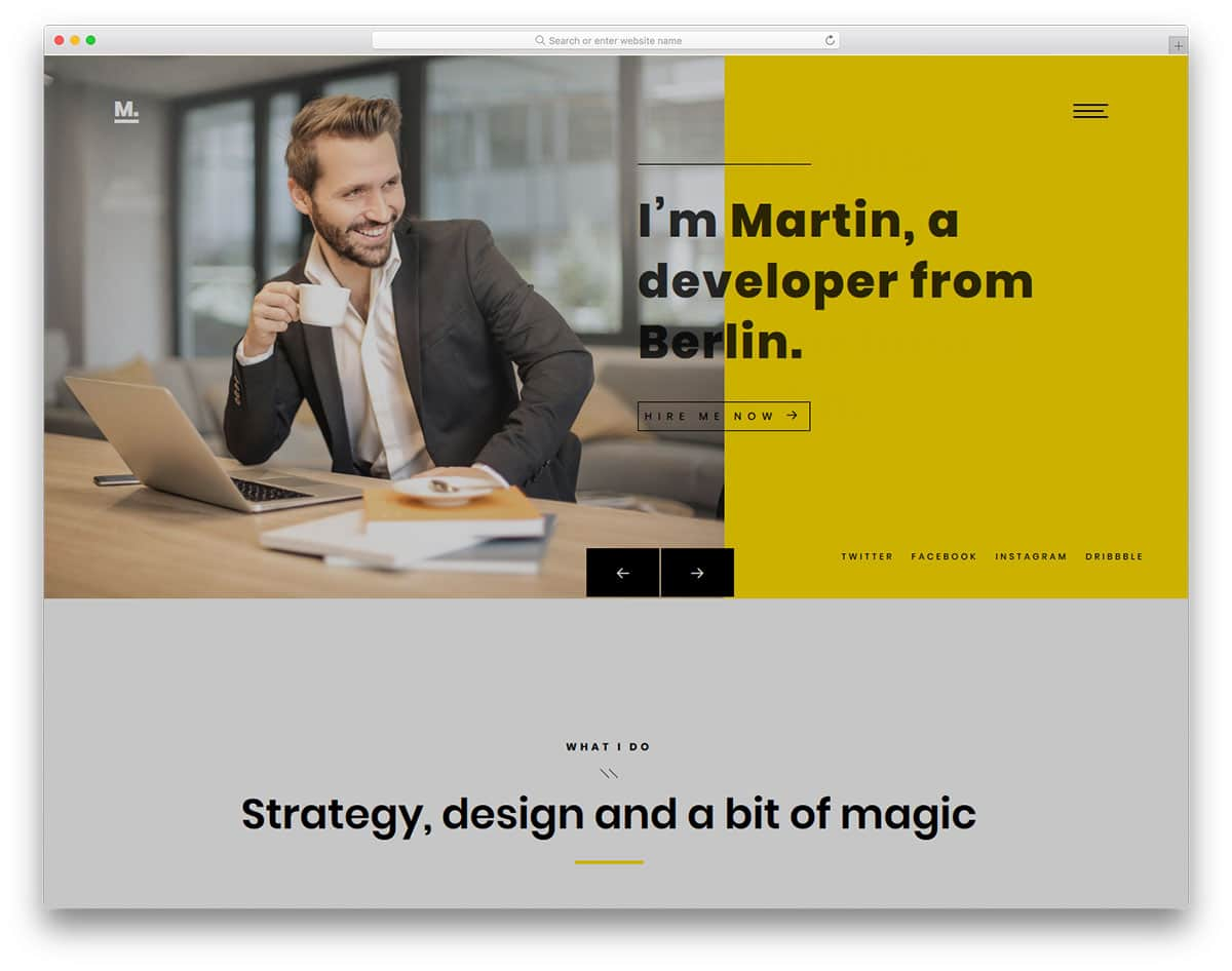 martin-free-personal-website-templates