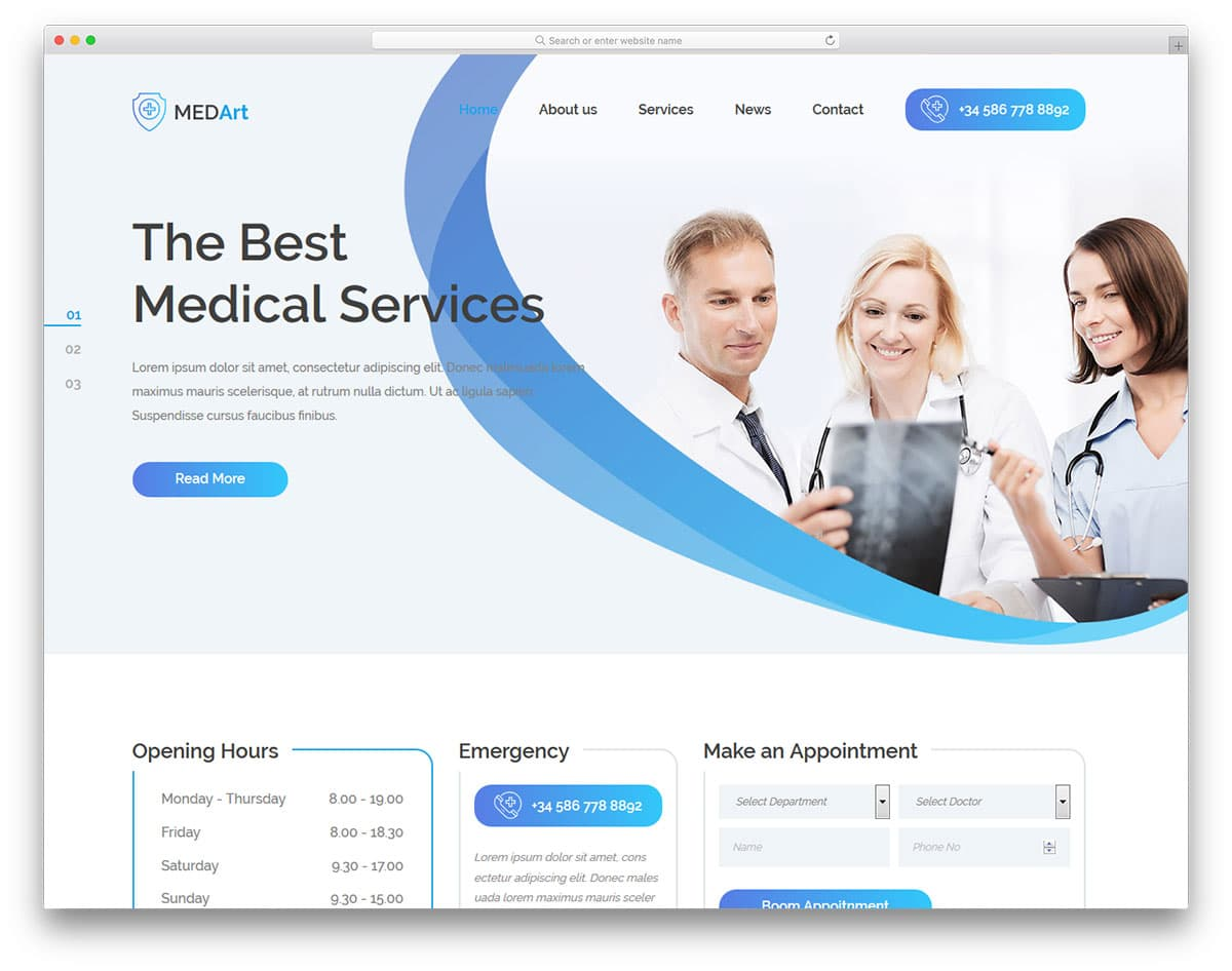 medart-free-medical-website-templates