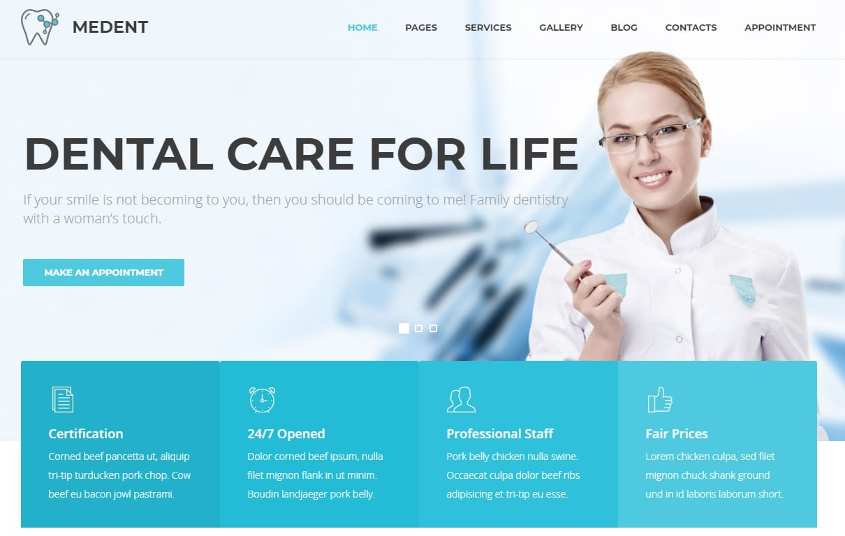 medent-html-medical-website-template