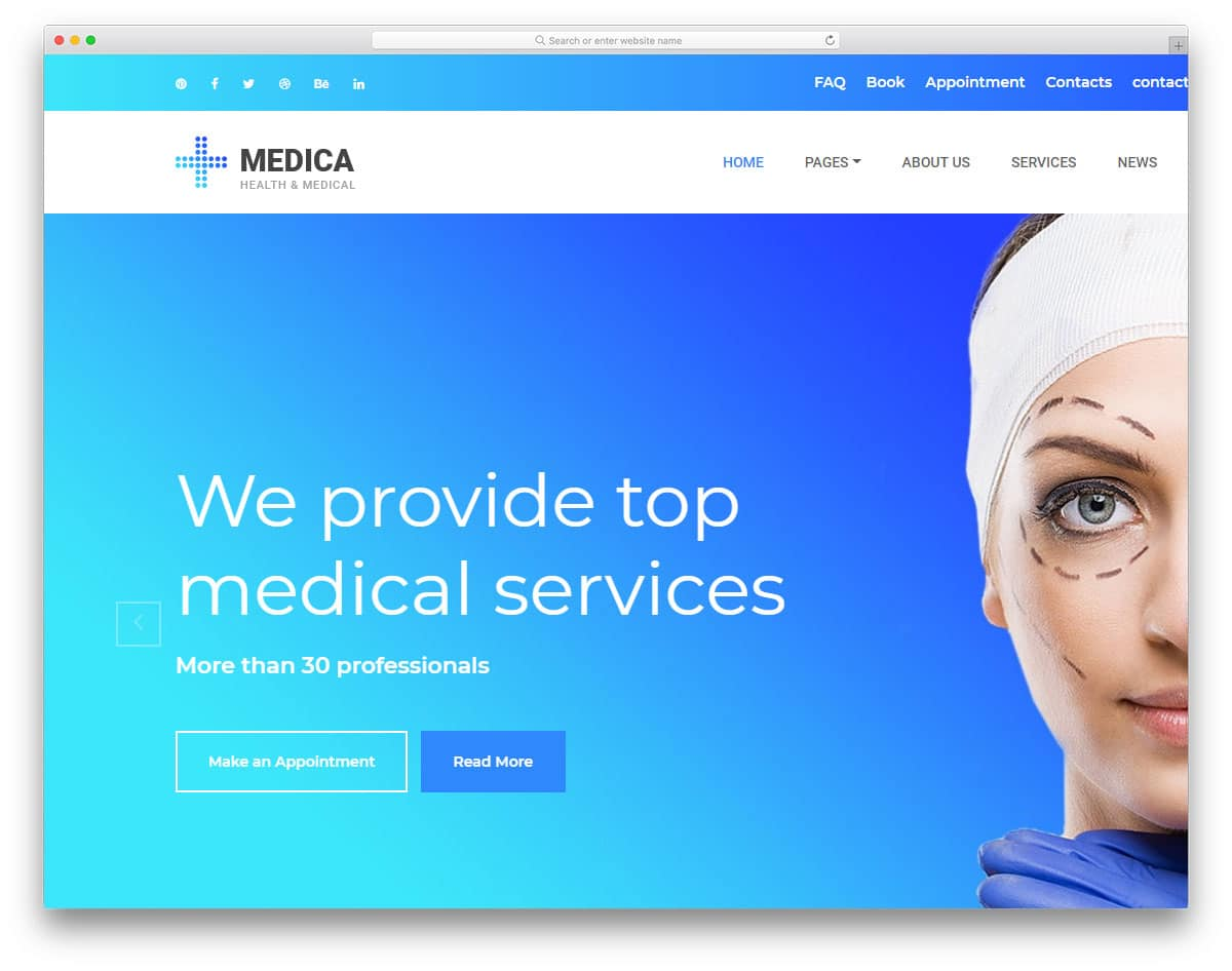 medica-free-personal-website-templates