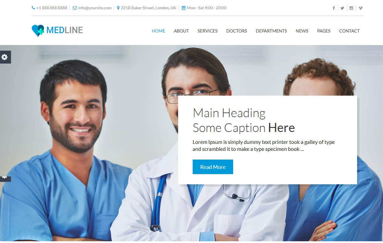 medline-html-medical-website-template