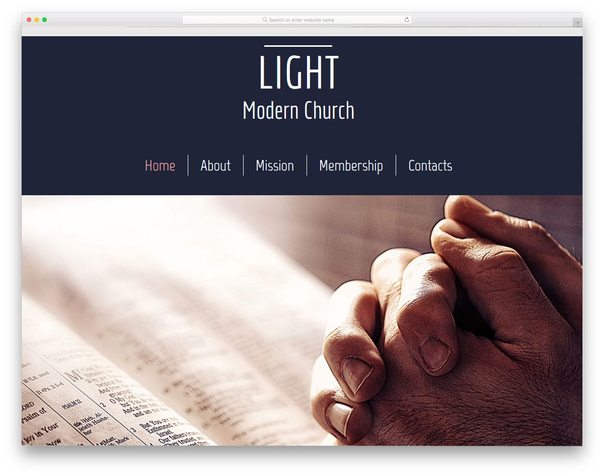 free church website templates - Free Church Website Templates