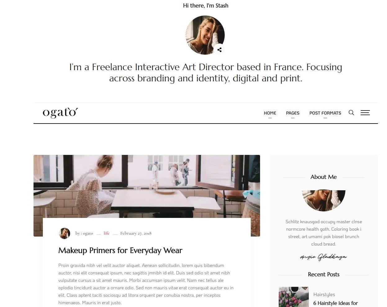 ogato-html-blog-template