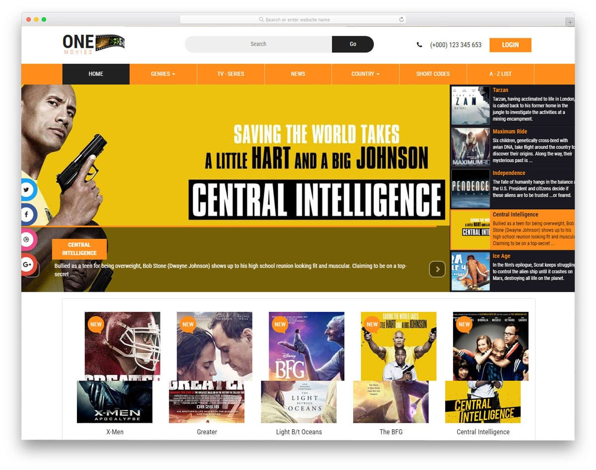one-movies-free-news-website-templates
