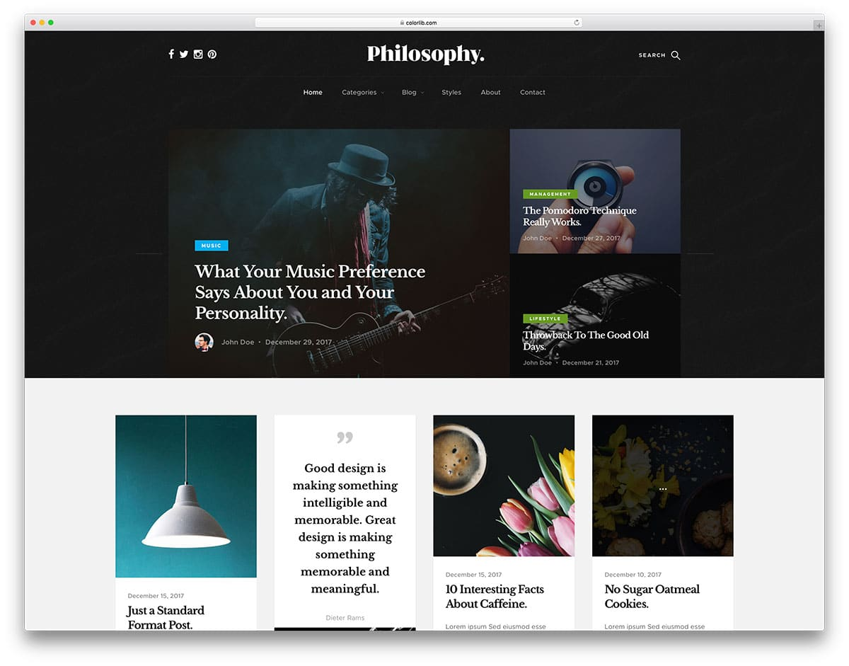 philosophy-free-bootstrap-blog-templates
