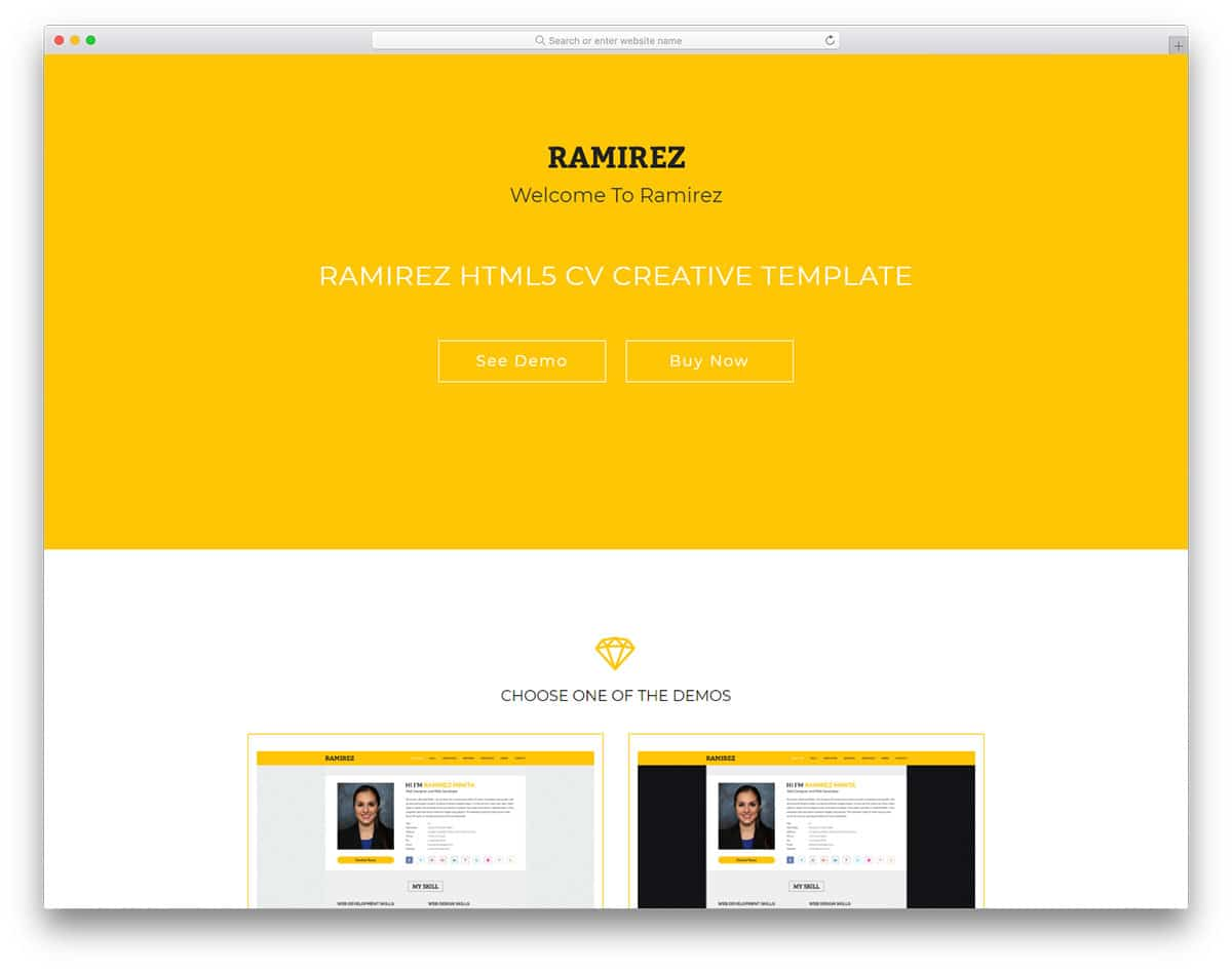 25 best free personal website templates for professionals 2018 ramirez free personal website templates maxwellsz