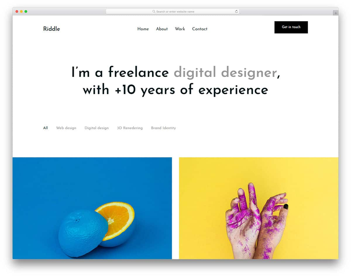 riddle-free-portfolio-website-templates