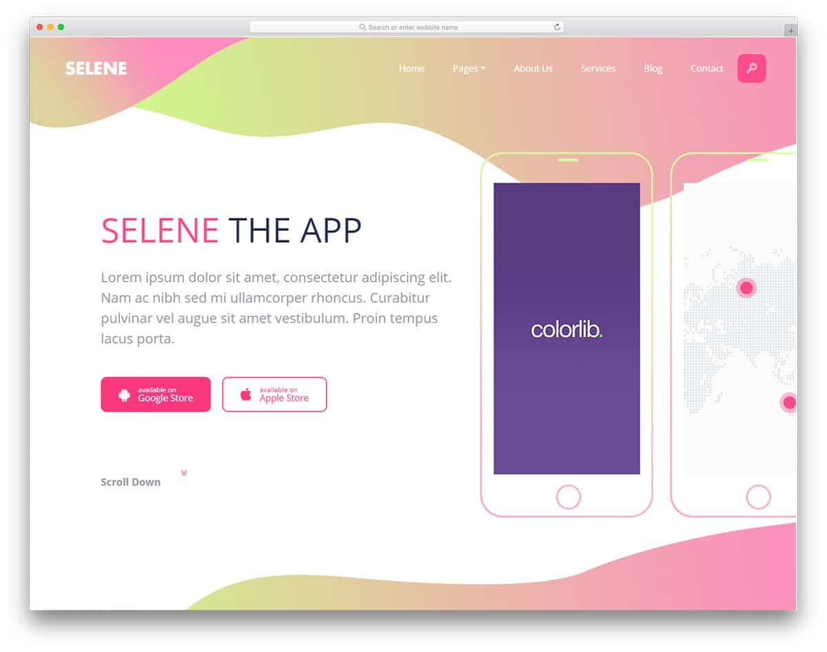 selene-free-bootstrap-landing-page-templates