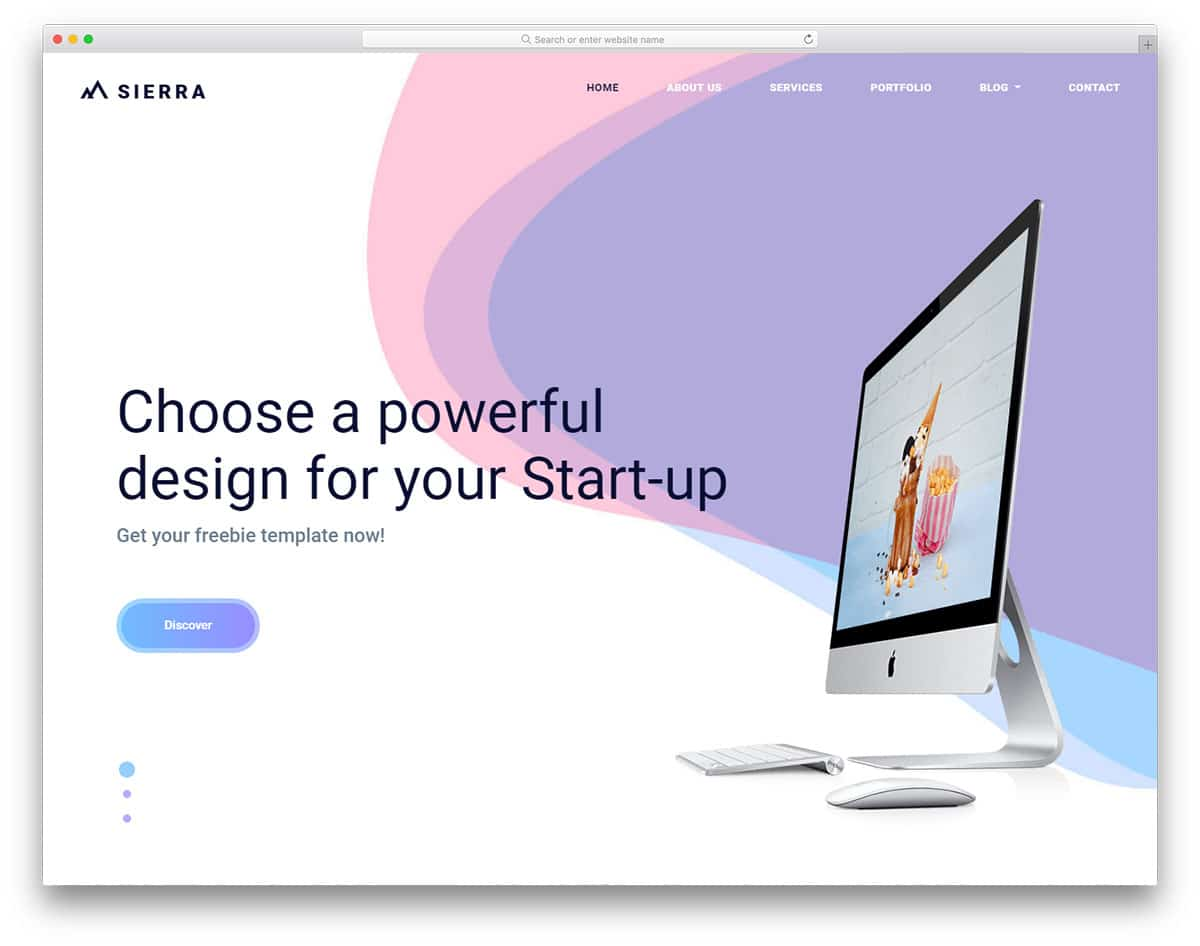 sierra-free-personal-website-templates