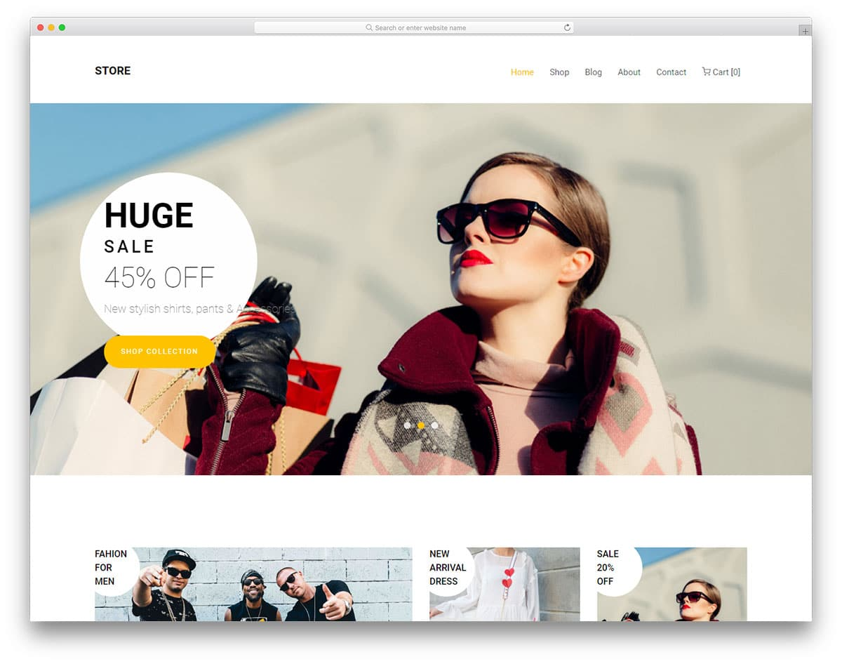 Best Free Fashion Website Templates With Vogue Design - Fashion website templates