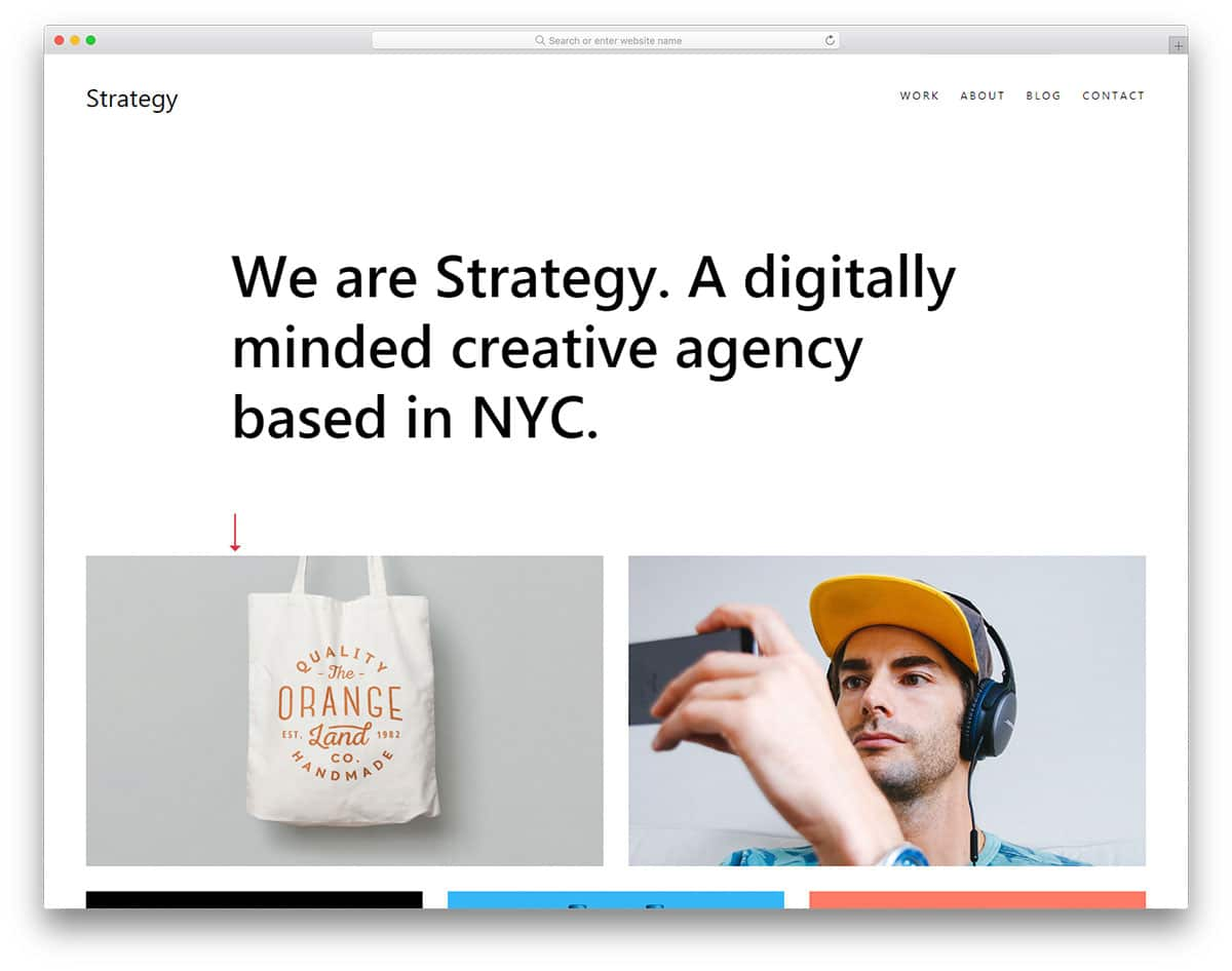 strategy free portfolio website templates