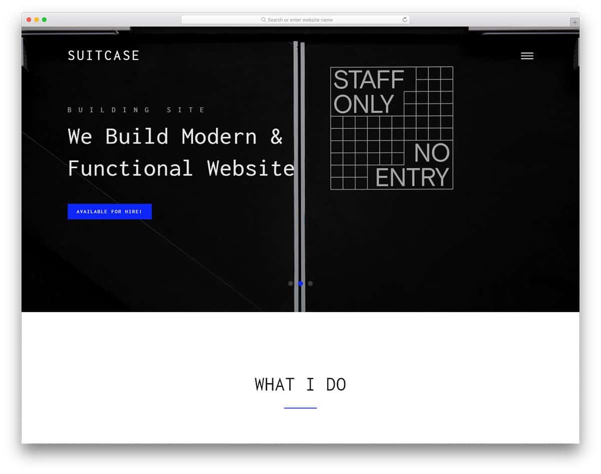suitcase-free-bootstrap-portfolio-templates