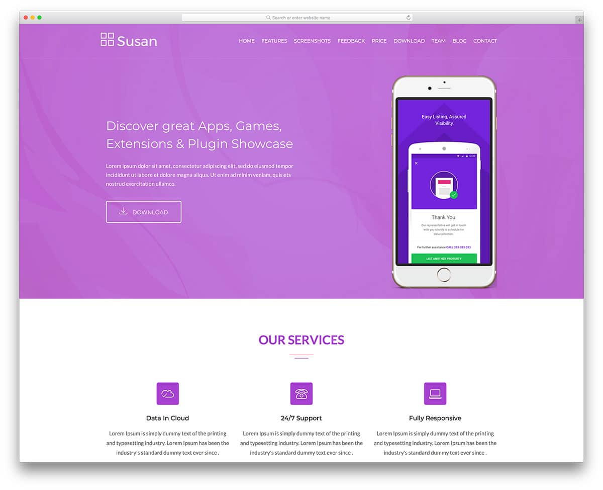susan-free-bootstrap-landing-page-templates