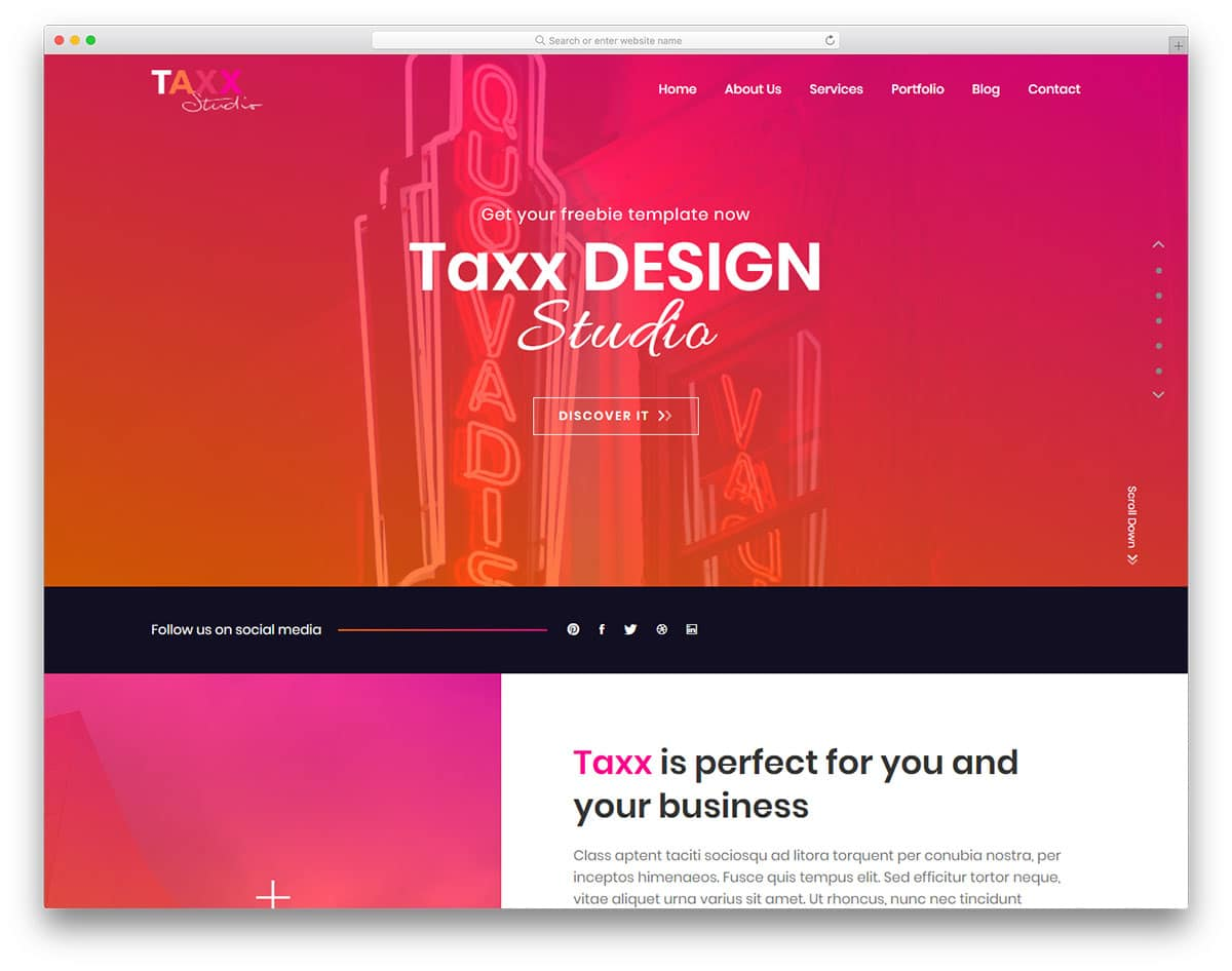 taxx-free-education-website-templates