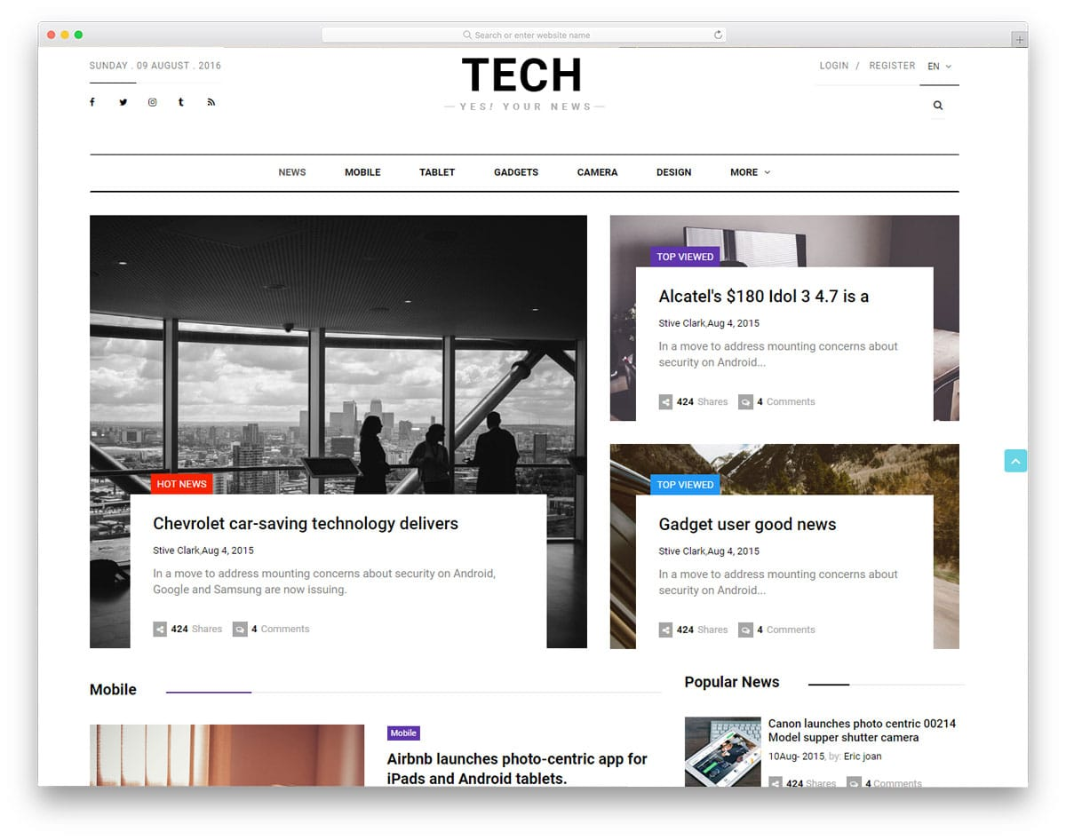 tech-news-free-news-website-templates
