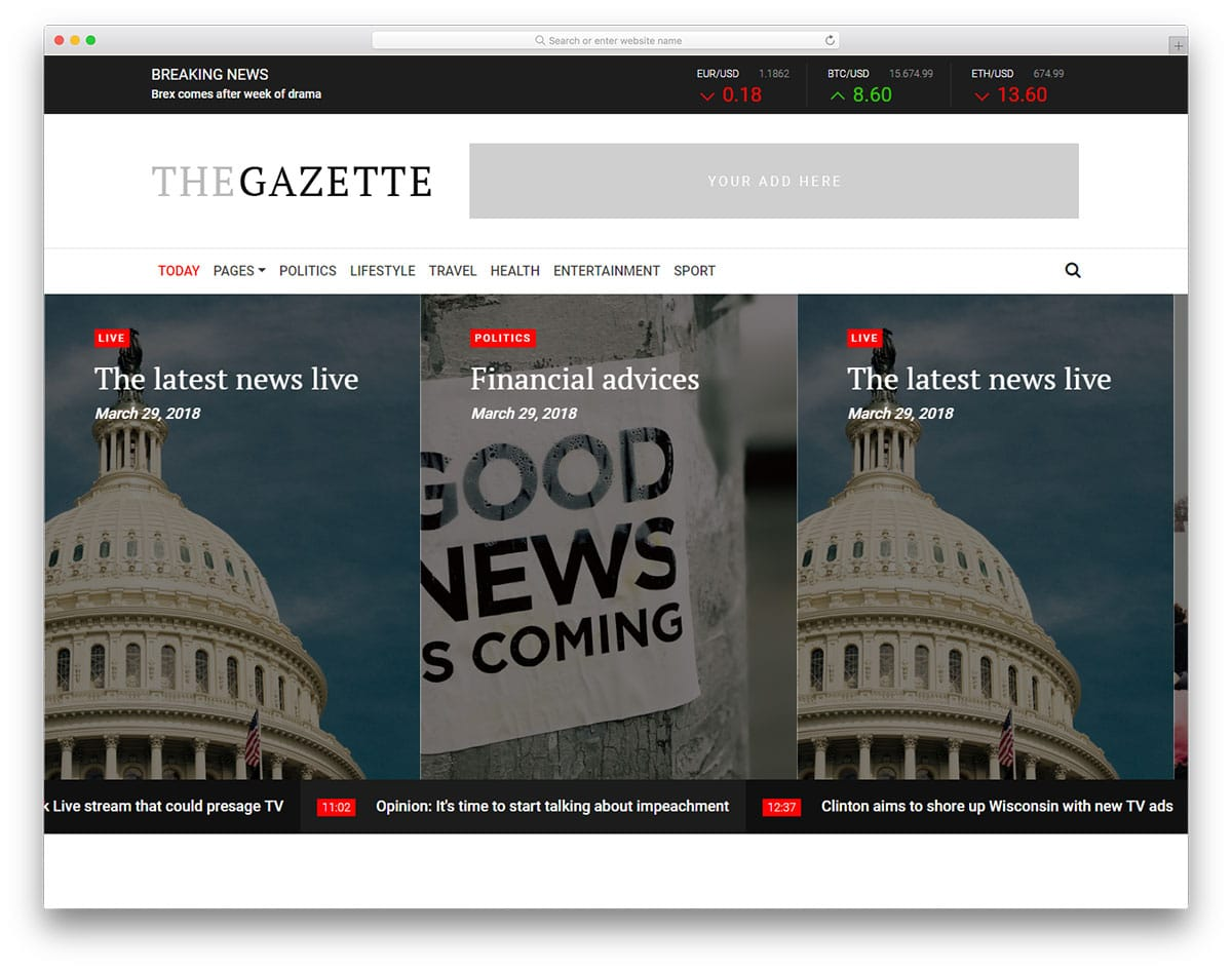 the-gazette-free-blog-templates