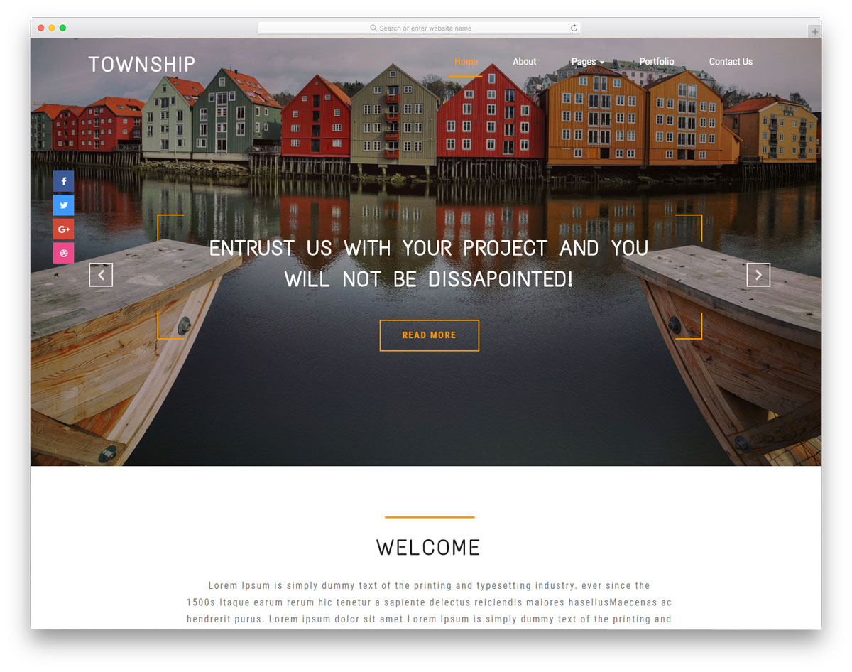 township free real estate website templates
