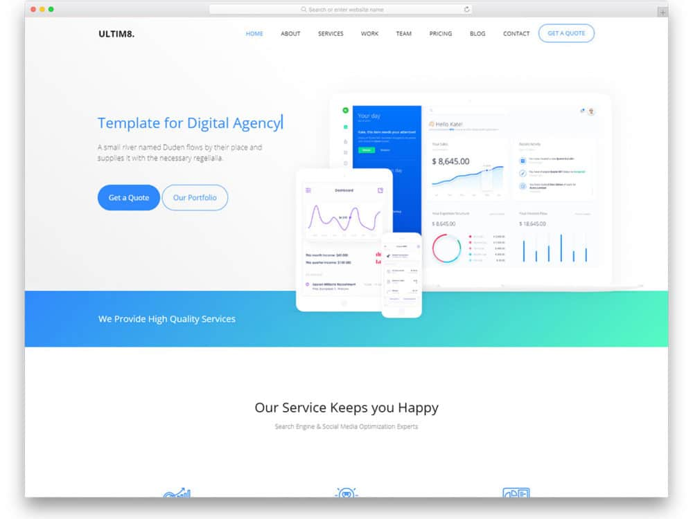 ultim8 free css website templates