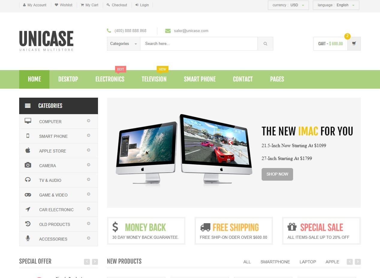 unicase-ecommerce-website-template