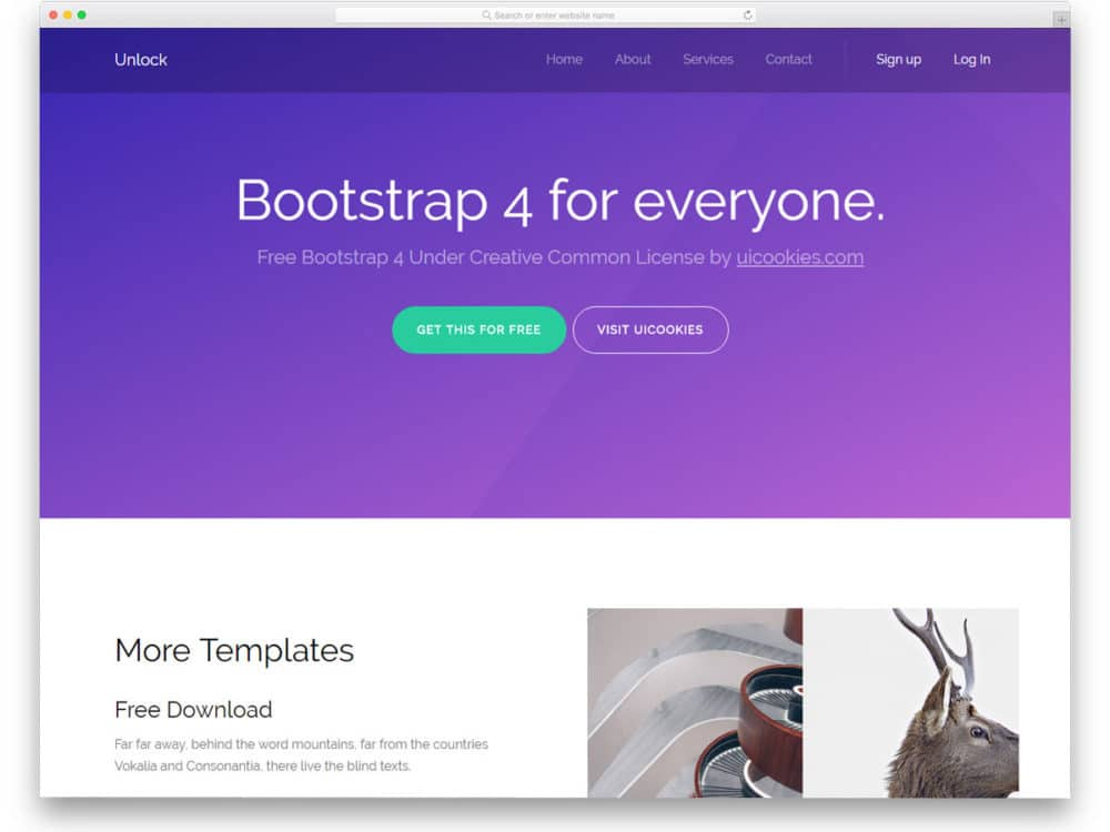 Best Free Bootstrap Landing Page Templates With Modern Design - Website landing page templates