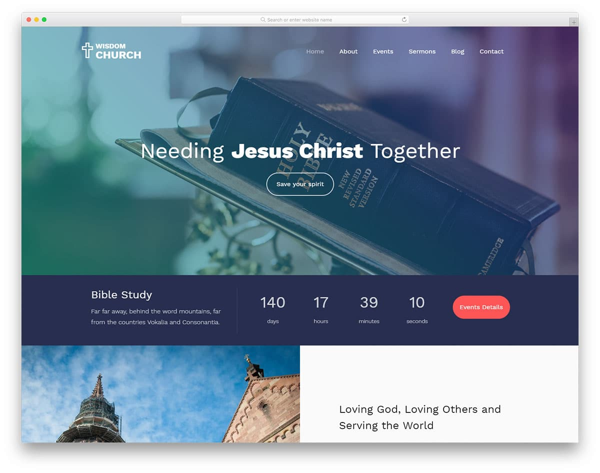 wisdom-free-church-website-templates