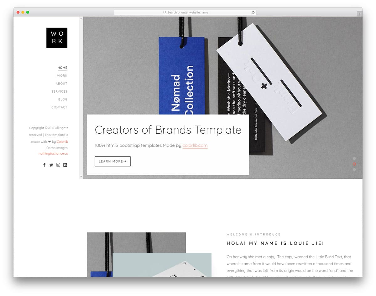 23 Free Bootstrap Portfolio Templates To Spellbound Your Clients