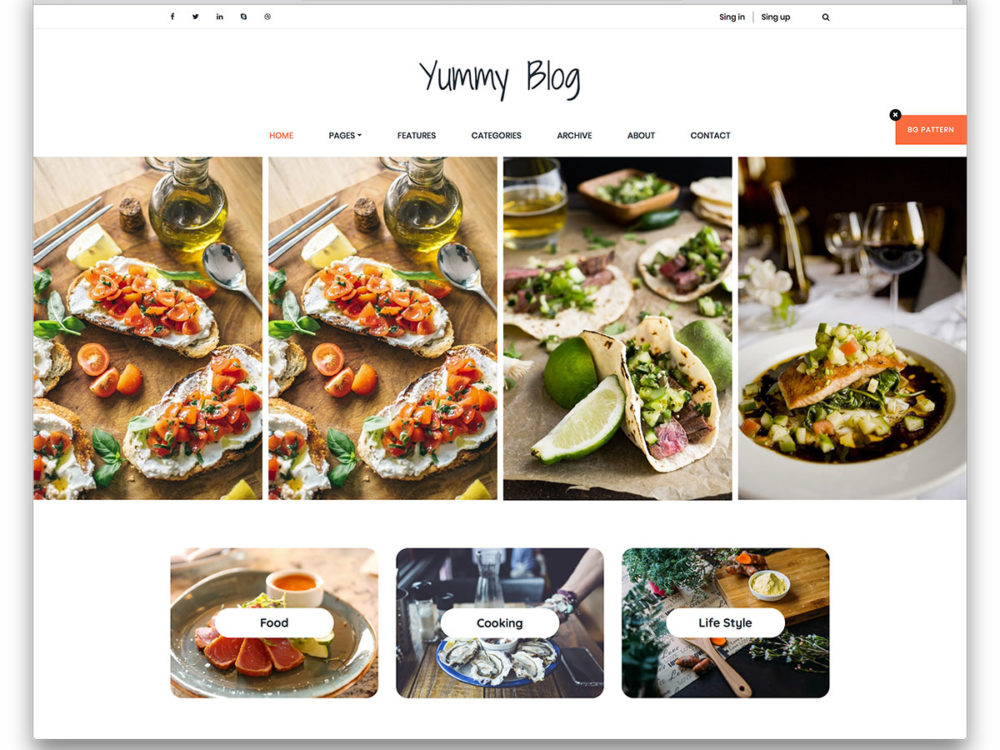 20 free bootstrap blog templates that transforms your blog 2018 yummy free bootstrap blog templates forumfinder Choice Image