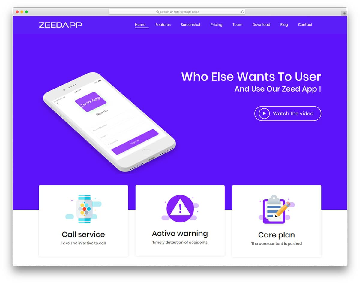 Zeed Free Bootstrap Landing Page Templates