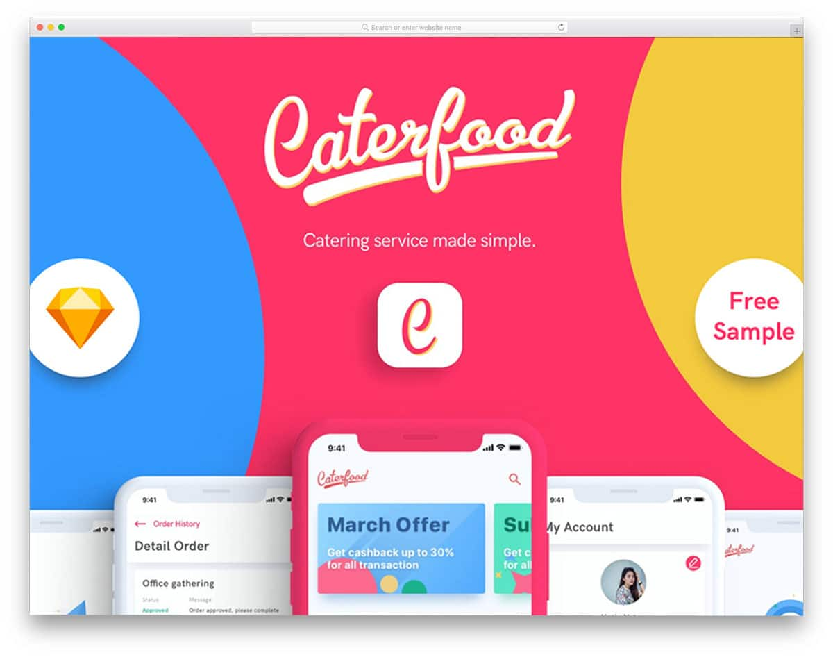 Caterfood-UI-Kit-free-ui-kits