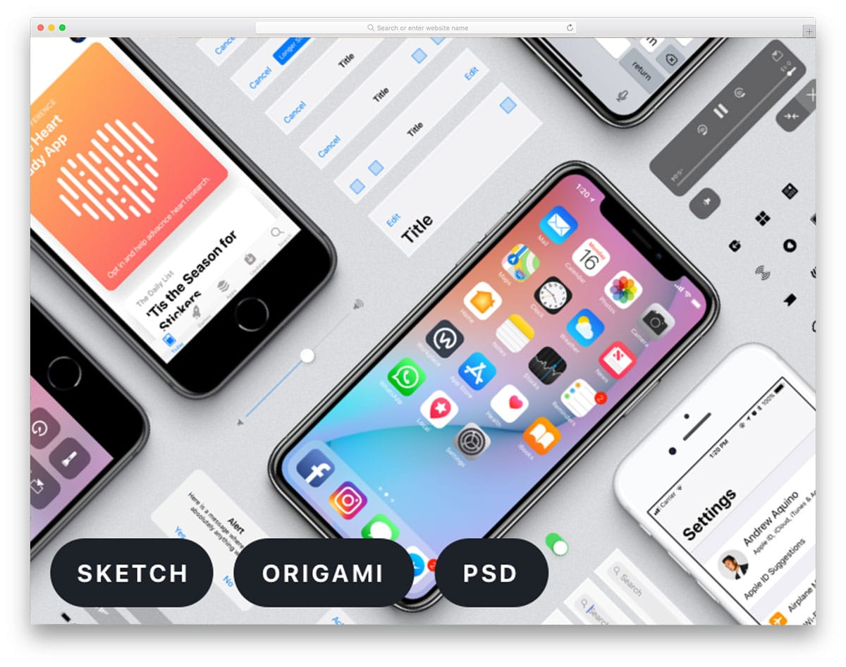 Facebook-Designs-iOS-11-GUI-free-ui-kits