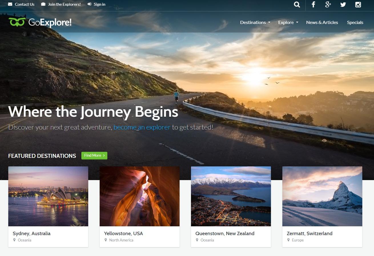 GoExplore-travel-website-template