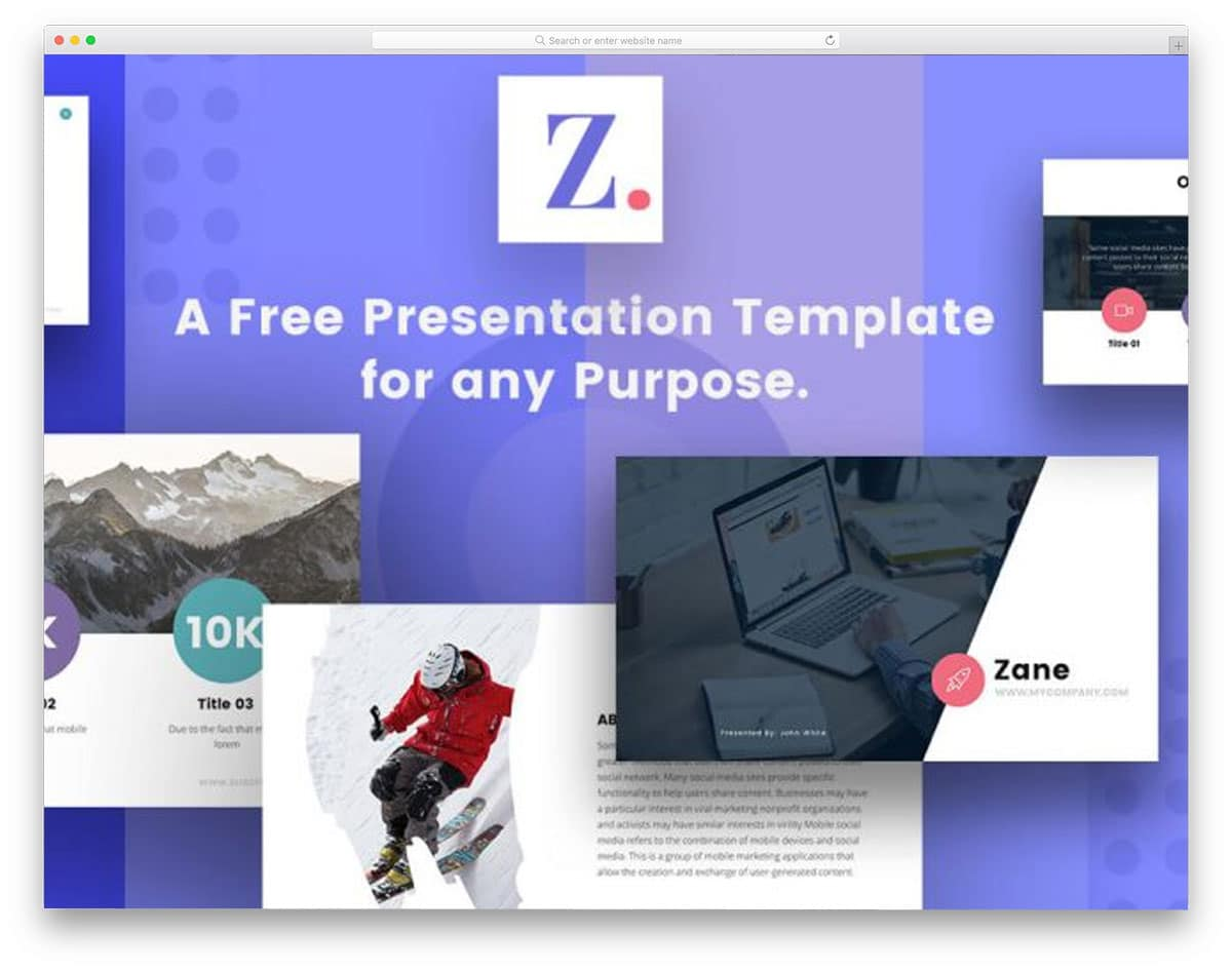 21 Free Keynote Templates With Interactive Design 2018 - uiCookies
