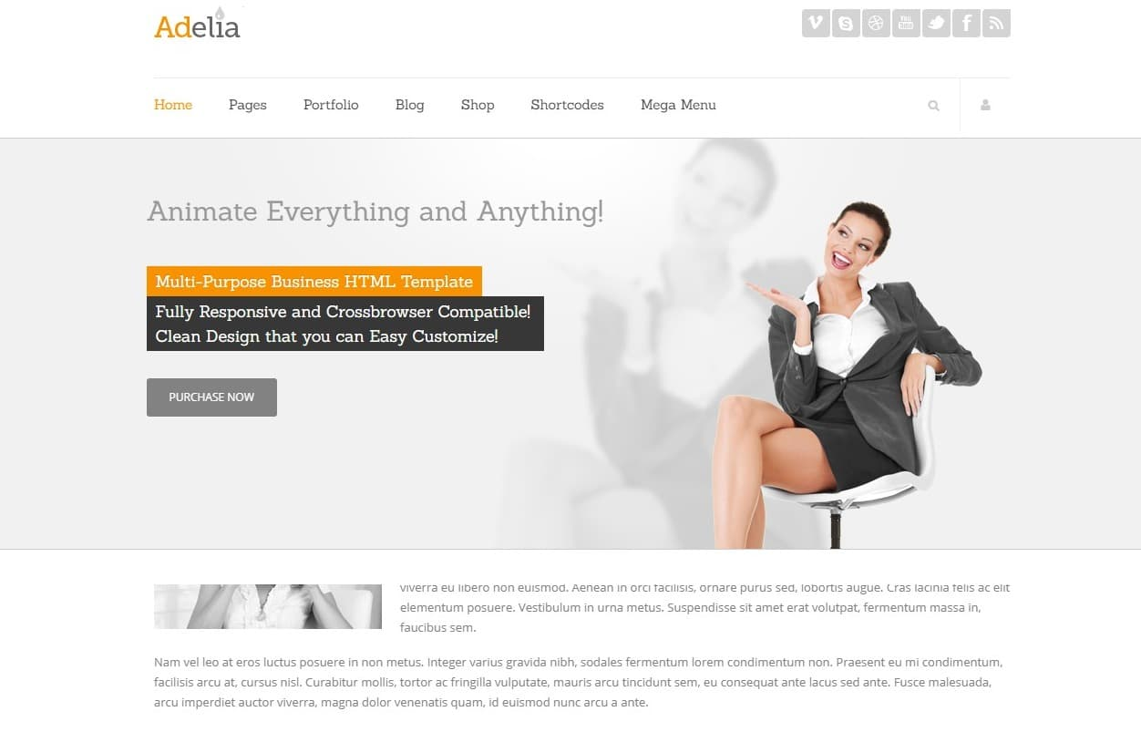 adelia-simple-website-template