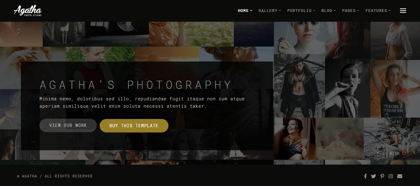 agatha-photography-website-template