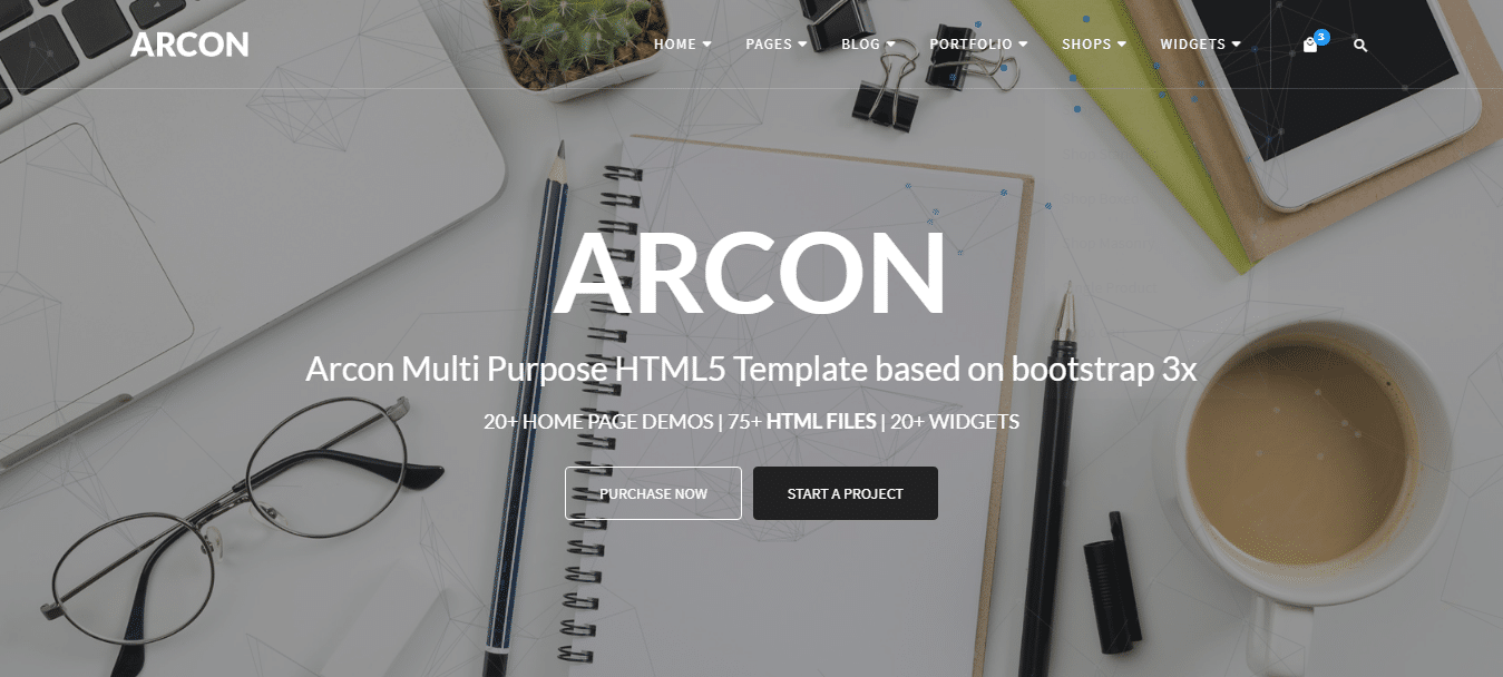 arcon-photography-website-template