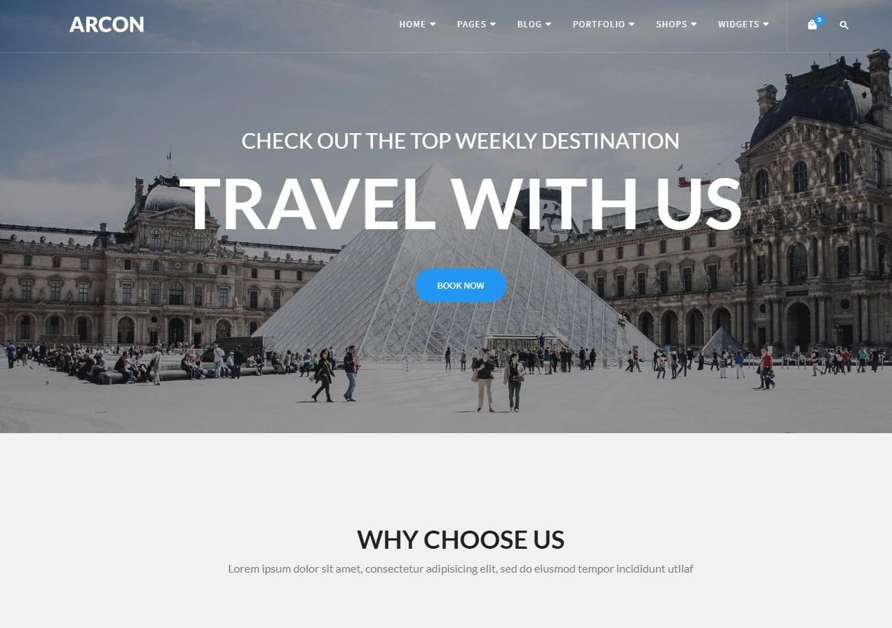 arcon-travel-website-template