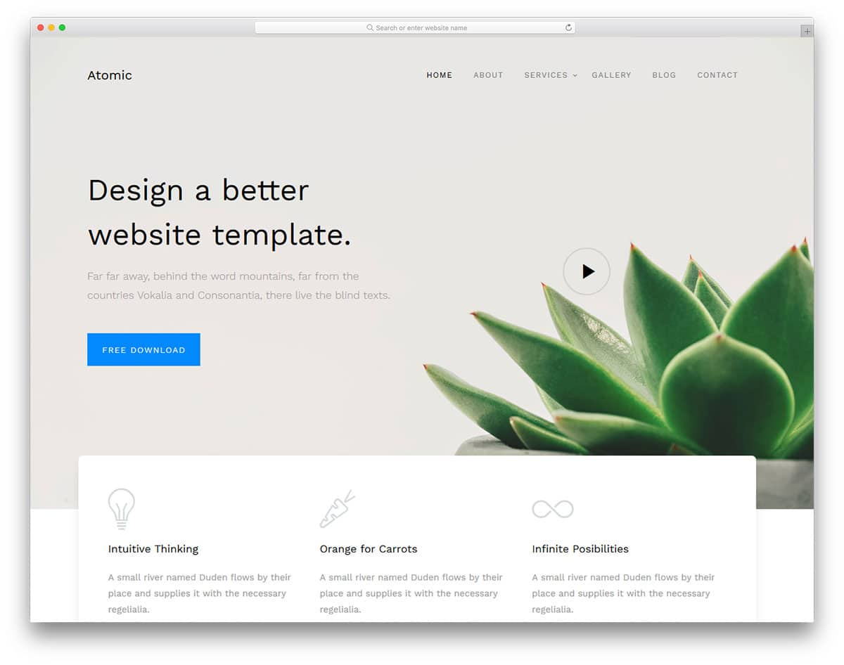 25 free bootstrap business templates to create a signature website atomic free bootstrap business templates accmission Images