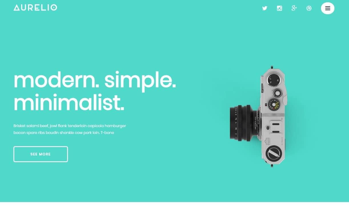 aurelio-simple-website-template