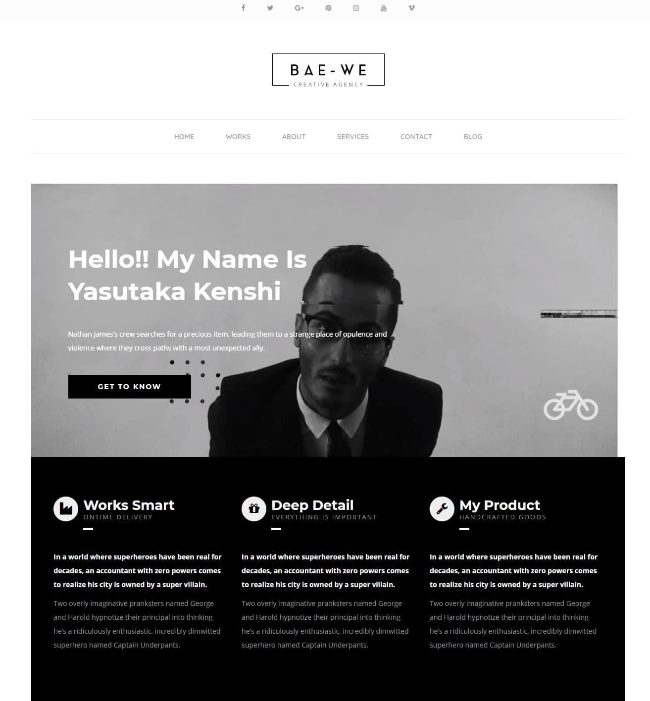 baewe-simple-website-template